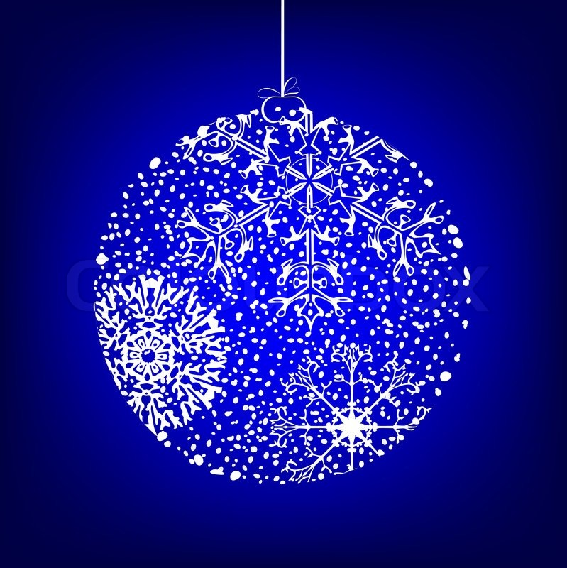 Boule Noel Decorative Bleu