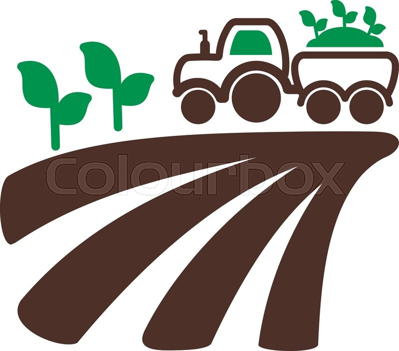 tractor on field harvest seedling icon outline field Phone Icon Vector Phone Icon Vector