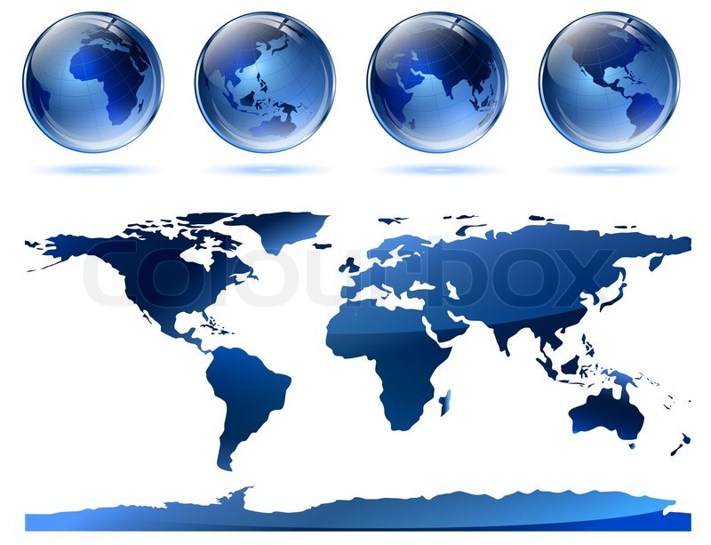 World map from nasa public domain httpearthobservatorysa world map from nasa public domain httpearthobservatorysaglobalmaps with glossy earth globes stock photo colourbox gumiabroncs Gallery