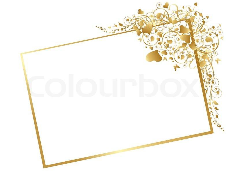 illustration von floralen goldener rahmen mit wirbelt. Black Bedroom Furniture Sets. Home Design Ideas