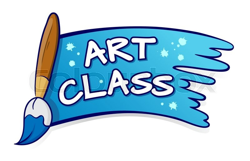vector stock of art class sign and symbol with paint brush stock