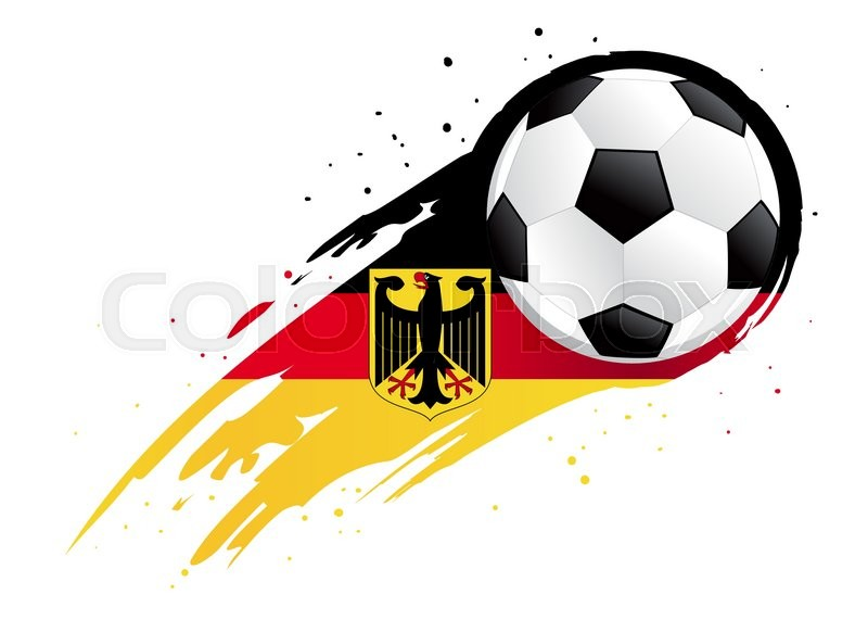 Vector Illustration Of A Soccer Ball With Abstract Germany Insignia