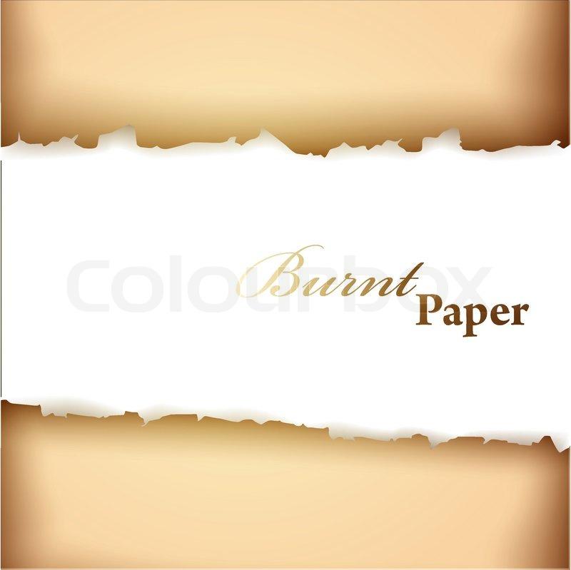 Verbranntem Papier Rahmen mit copyspace für Ihren Text ...