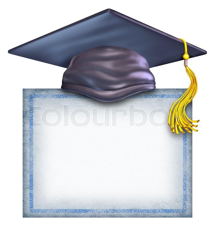 blank college diploma