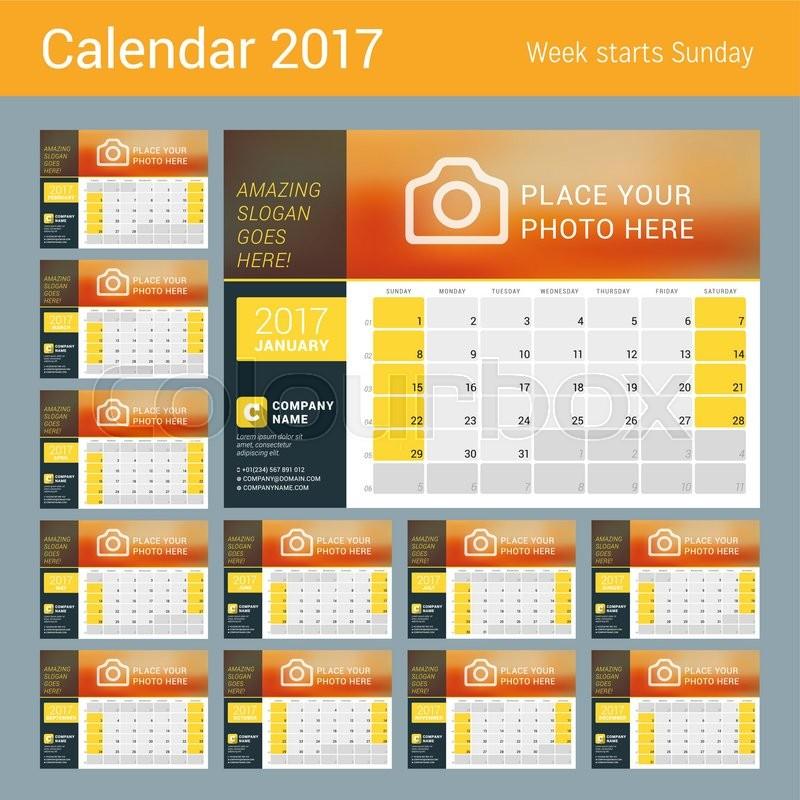 Calendar Number Design : Desk calendar holiday