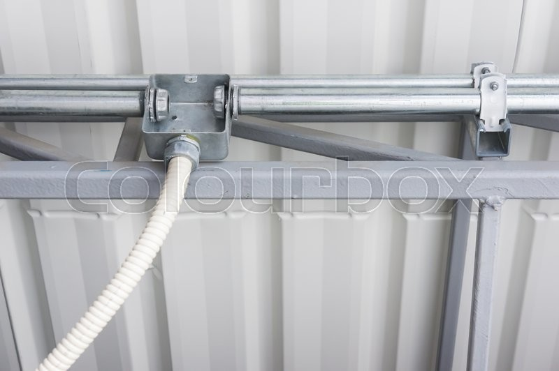 Electrical Junction Box With Flexible Conduit Pipe