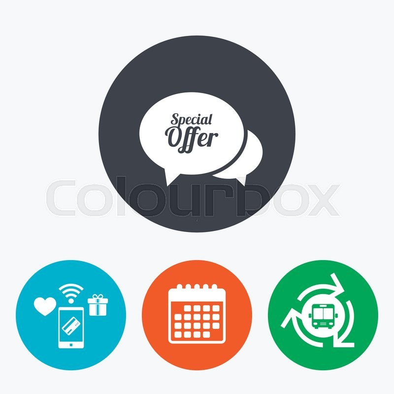 Speech Bubble Special Offer Sign Icon Sale Symbol Mobile Payments
