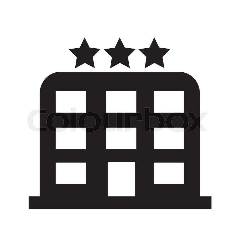 Hotel Icon Foyer : Star hotel icon illustration design stock vector