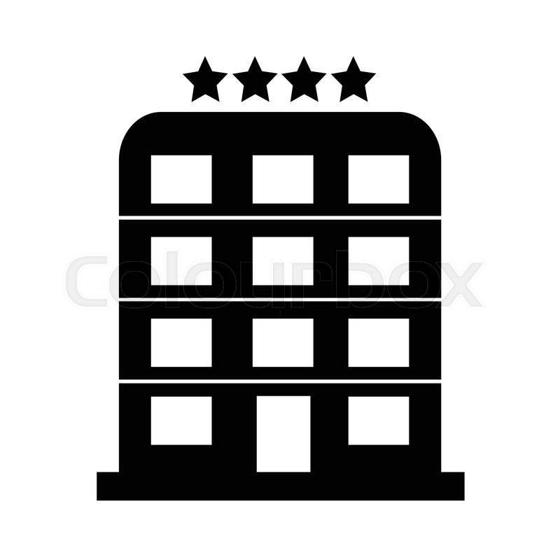 4 Star Hotel Icon Illustration Design