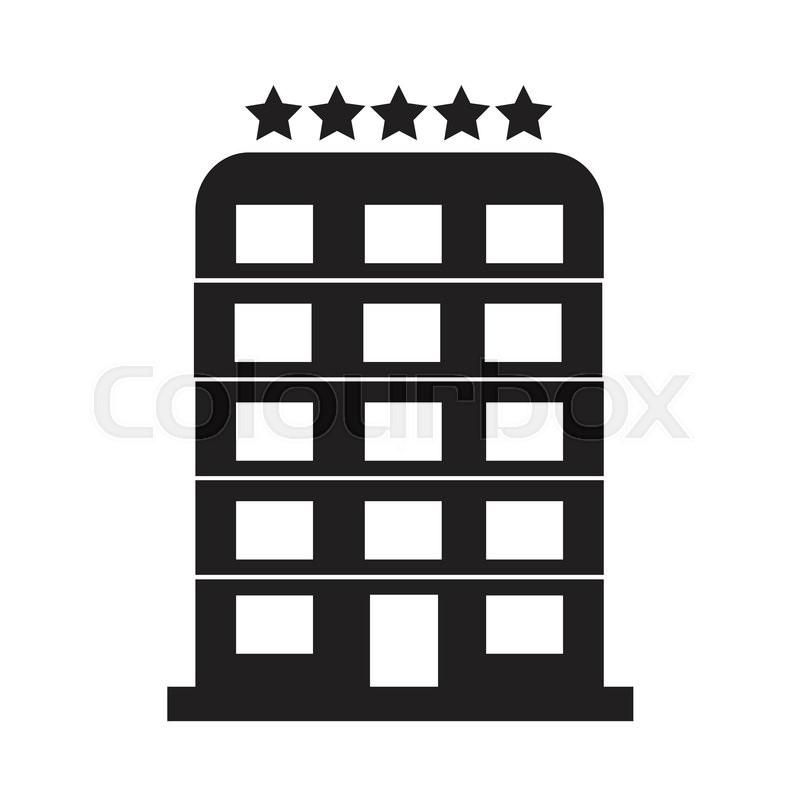 5 Star Hotel Icon Illustration Design