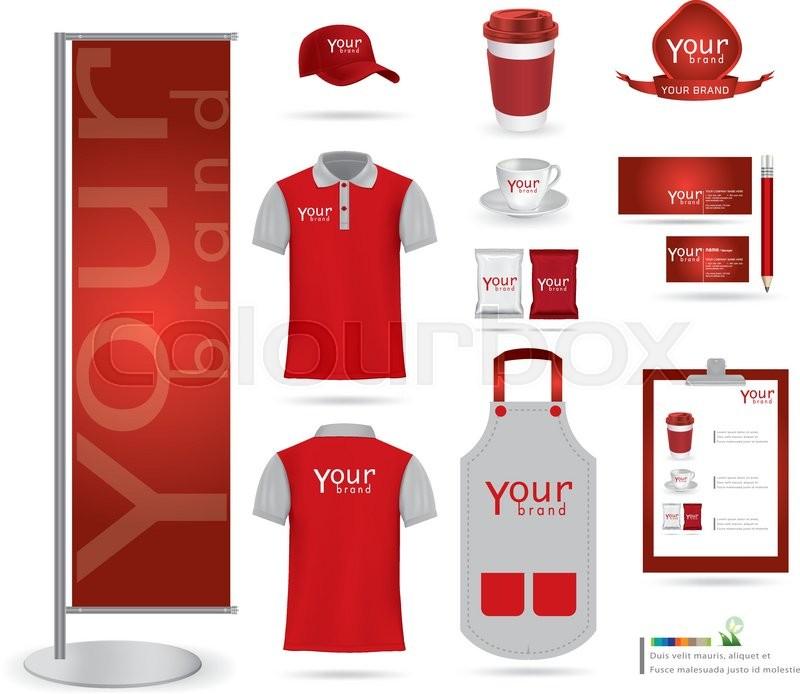 Vector menu package t shirt cap uniform design layout set of vector menu package t shirt cap uniform design layout set of corporate identity mock up template stock vector colourbox maxwellsz