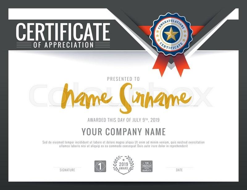 Modern certificate triangle shape background frame design template ...