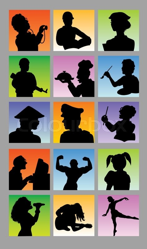 People profession silhouette. Good use for avatar, logo, web icon, symbol, sign, or any design you want, vector