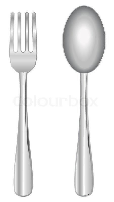 Vector Fork And Spoon Stock Vector Colourbox