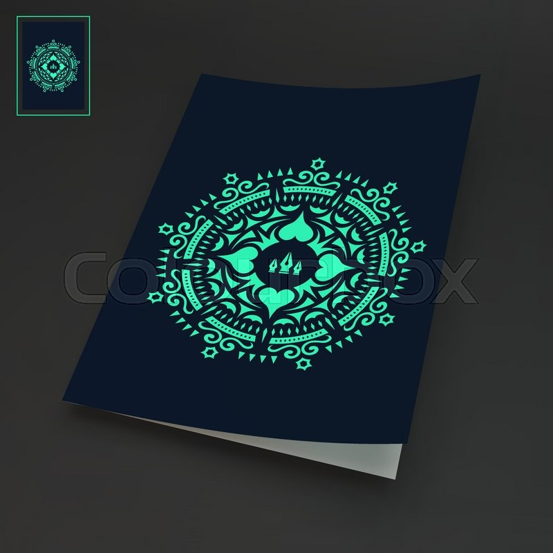 Notebook Cover Template Oriental Stock Vector Colourbox