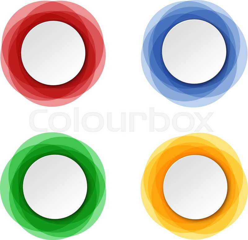 Set Of Round Colorful Vector Shapes Abstract Vector