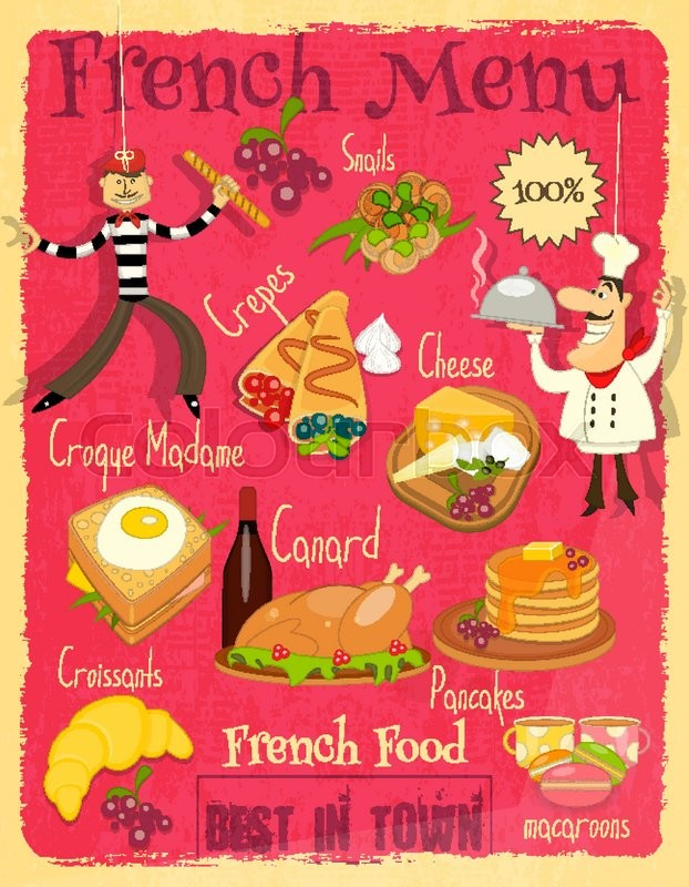 Vintage French Food