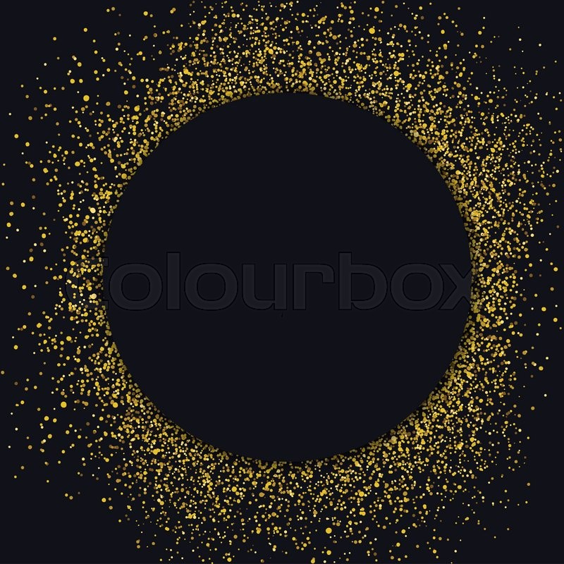 circle label design template circle with gold glitter particles on