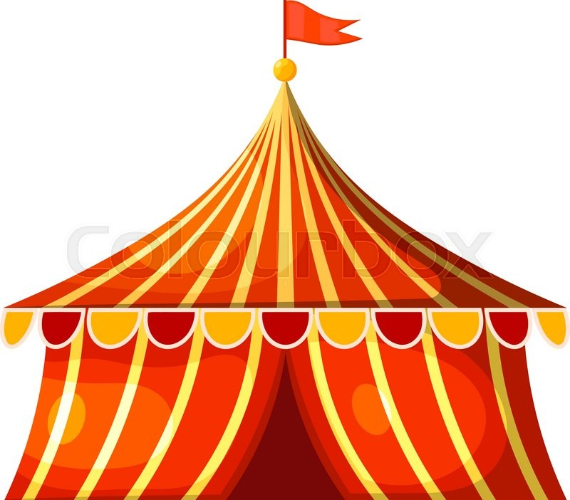 Cartoon circus marquee tent. Vector illustration | Stock Vector | Colourbox  sc 1 st  Colourbox & Cartoon circus marquee tent. Vector illustration | Stock Vector ...