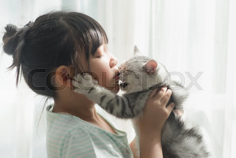 Matchless asian girl kissing and