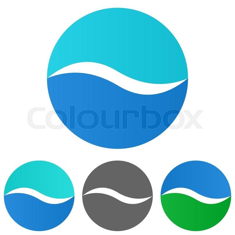 sea logo vector sea icon symbol design template set for wave