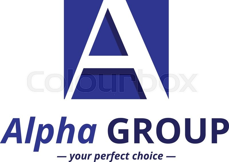 Vector Minimalistic Negative Space Greek Letter Logo Alpha Letter