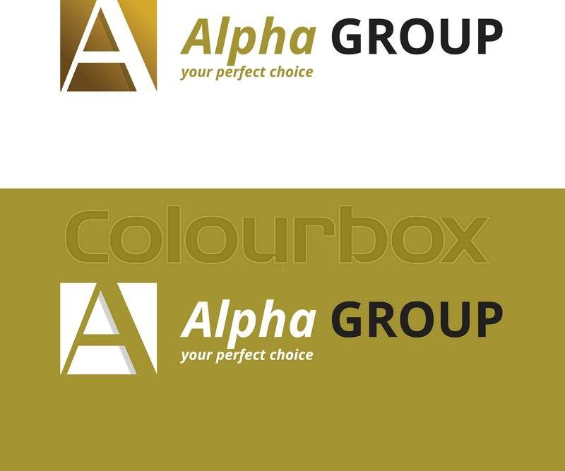 Vector Minimalistic Negative Space Greek Letter Logo Alpha Letter