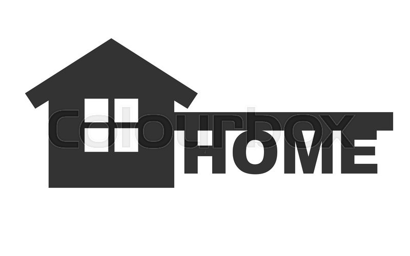 Symbol Of Home Like Key And Text Home Vector Concept