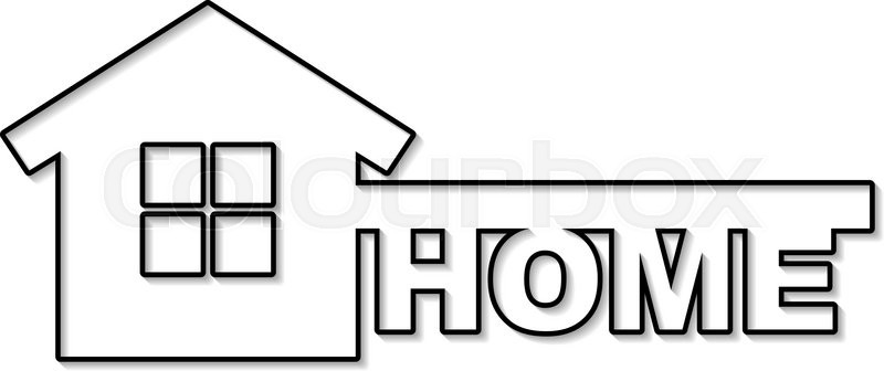 Symbol Of Home Like Key And Text Home Vector Concept House Symbol