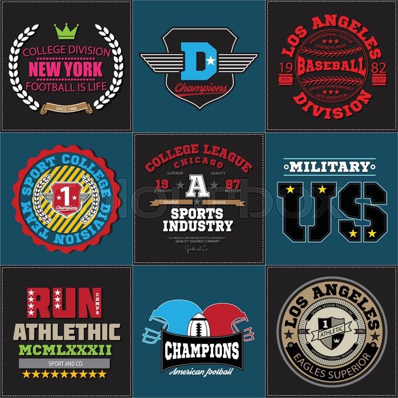 Sport Athletic Champions College Baseball Football Logo