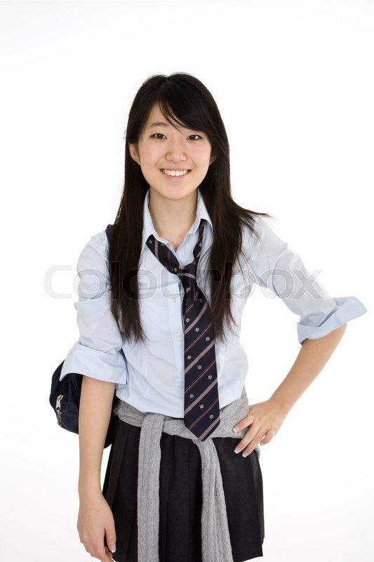 Portrait of a female asian teenager dressed in the traditional japanese schoolgirl clothing - Teen japan girls ...