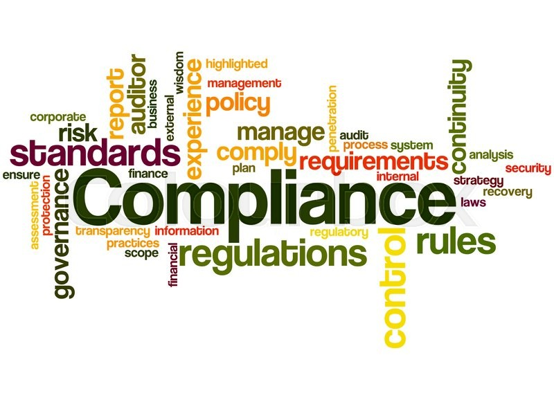 Compliance Word Cloud Concept On White Background