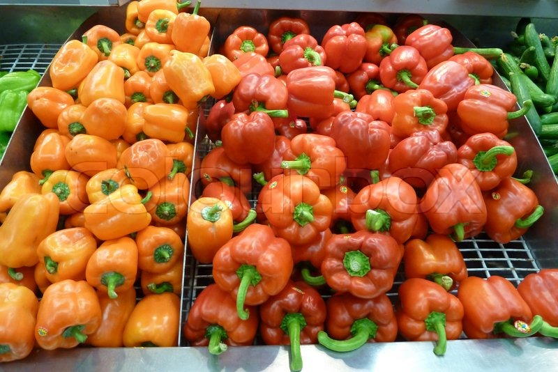 Mini Yellow Bell Pepper Mini Capsicums or Bell Peppers