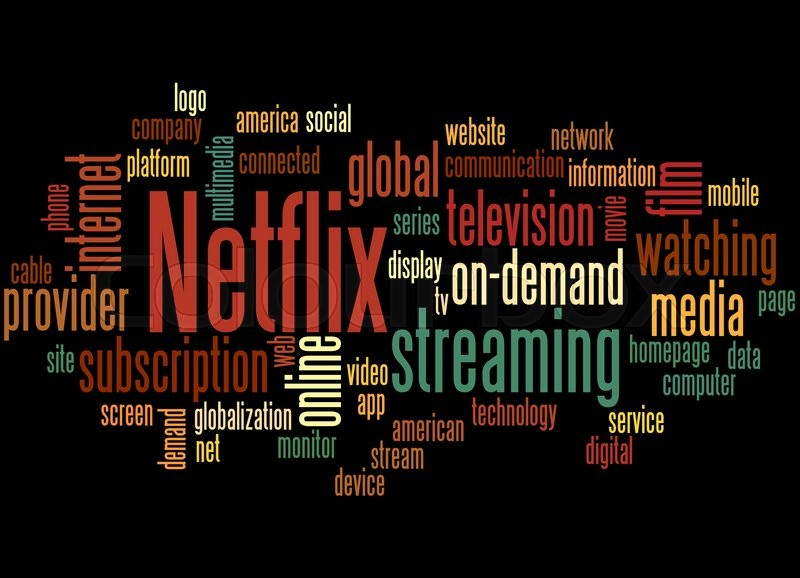 Netflix, word cloud co...