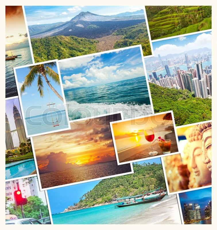 Travel Tourism Concept Design Collage Stock Image Colourbox