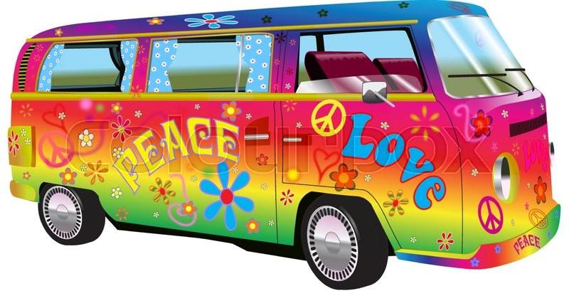 Rainbow Vans: RAINBOW HIPPY VAN