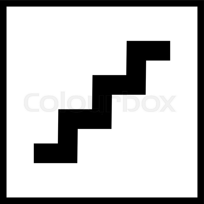 Stairs Icon.Vector Staircase Sign Isolated On A White Background. | Stock  Vector | Colourbox