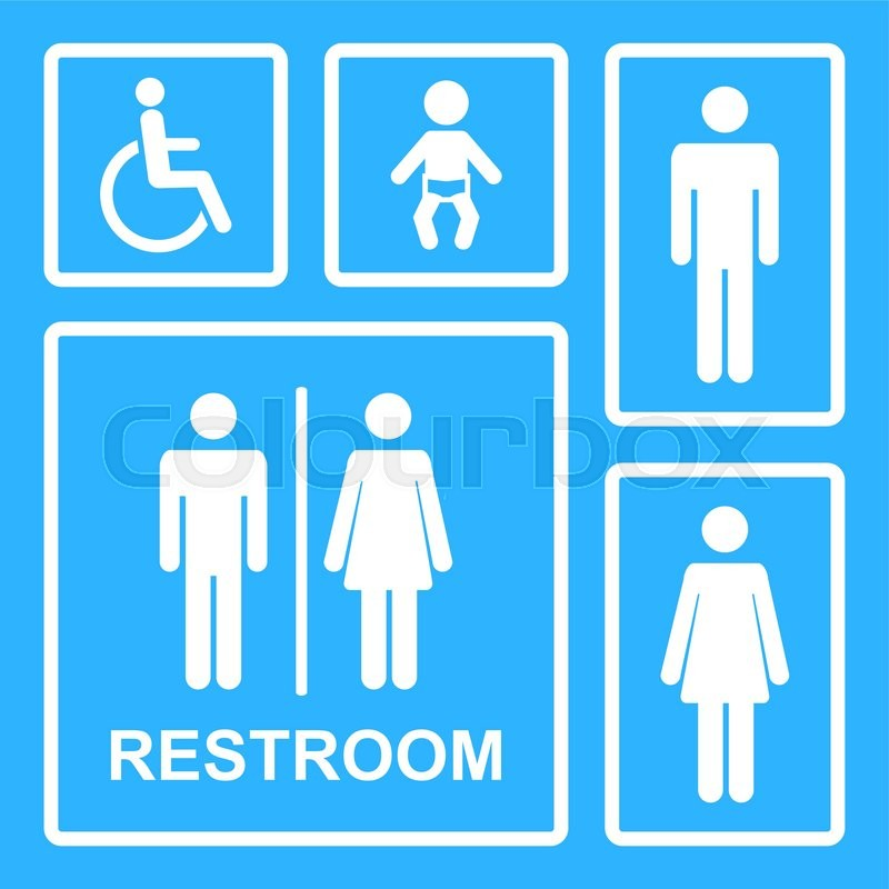 Restroom Icons Vector Restroom Icons For Men Women Lady