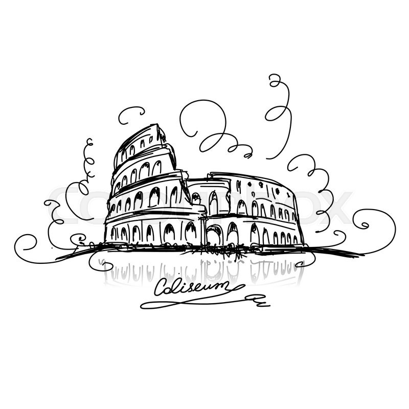 how to draw the colleseum
