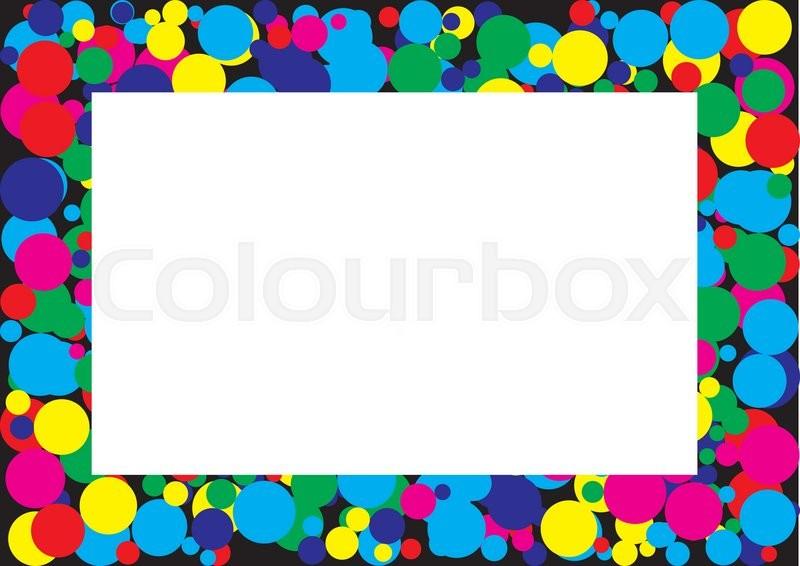 Colorful border line clip art