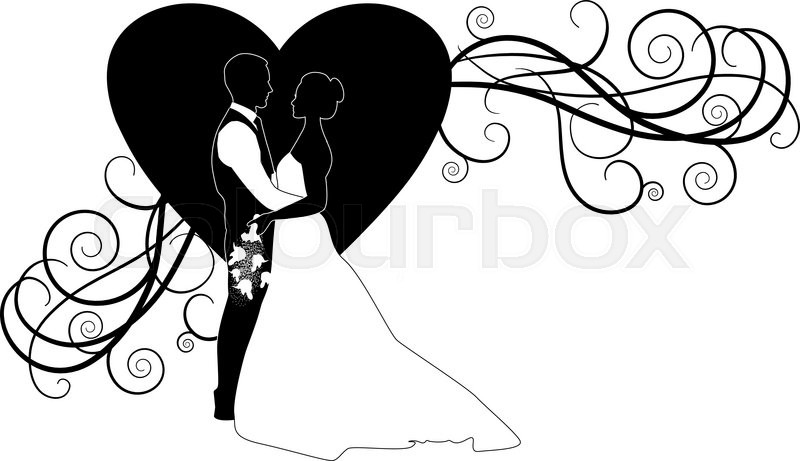 Stock Vector Of Wedding Couple Bride And Groom Silhouette