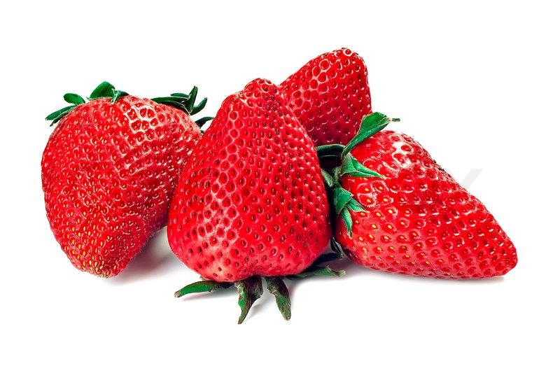 Strawberry Of Red Color Isolated On A White Background Image 1879047 on Healthy Food Coloring Page