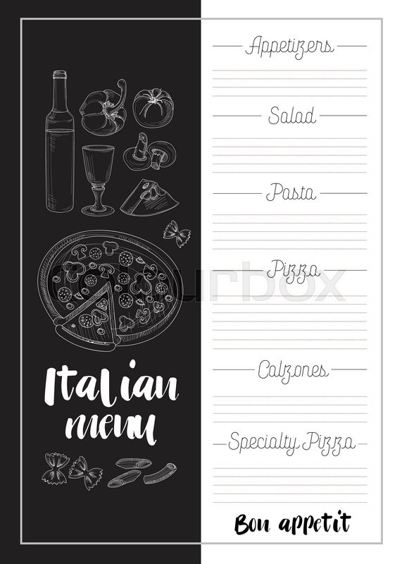 Italian Food Menu Restaurant Food Background With Olives Pasta