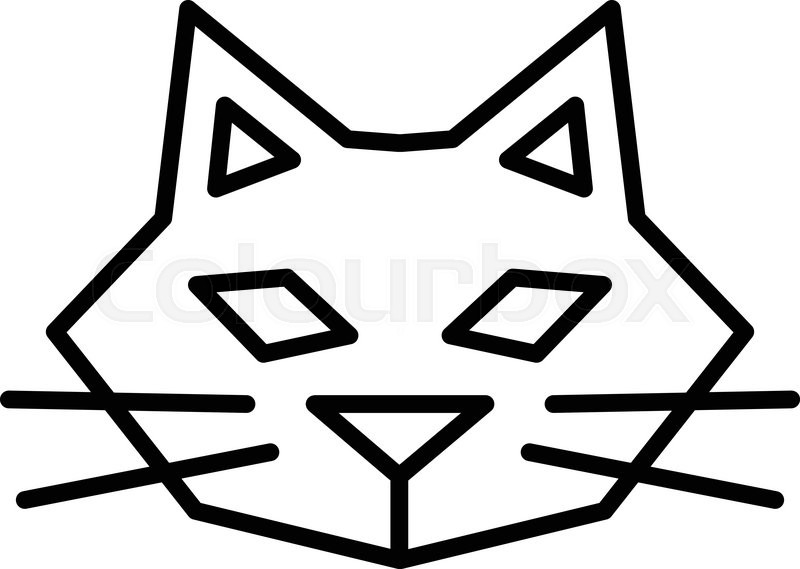 Simple cat outline icon Stock Vector Colourbox