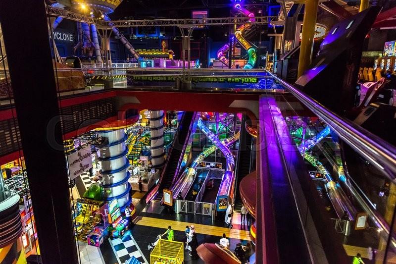 Dubai Uae December 5 Sega Republic Indoor Theme Park At The Dubai Mall Uae December 5