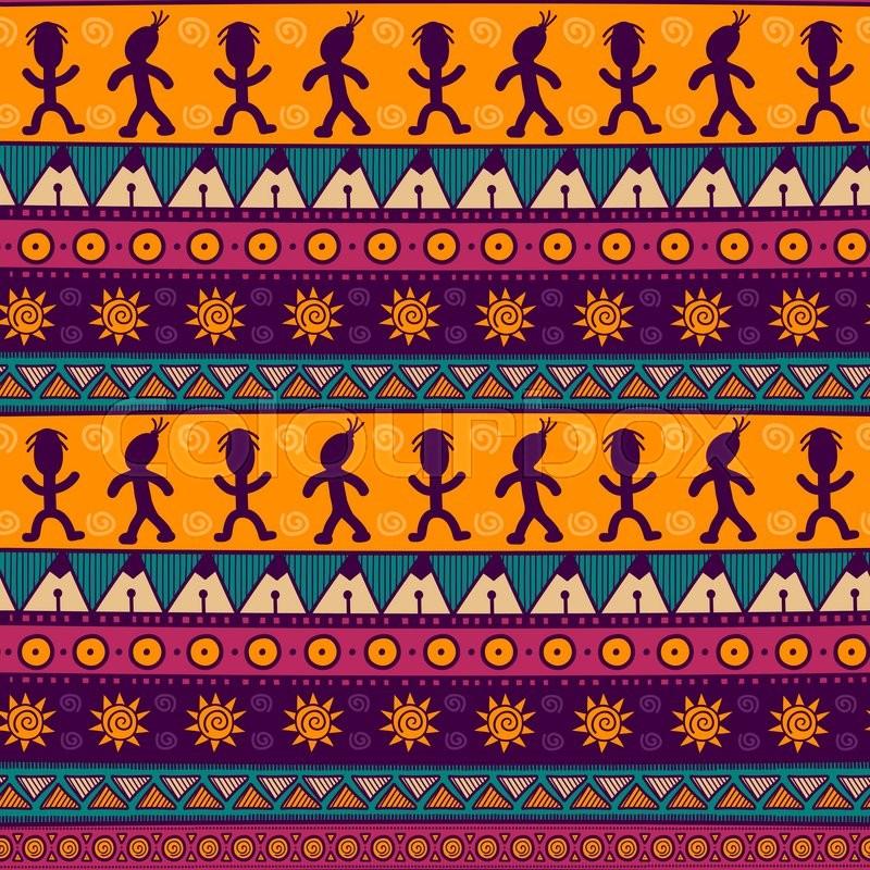 Ethnic Tribal Seamless Pattern Stock Vector Colourbox