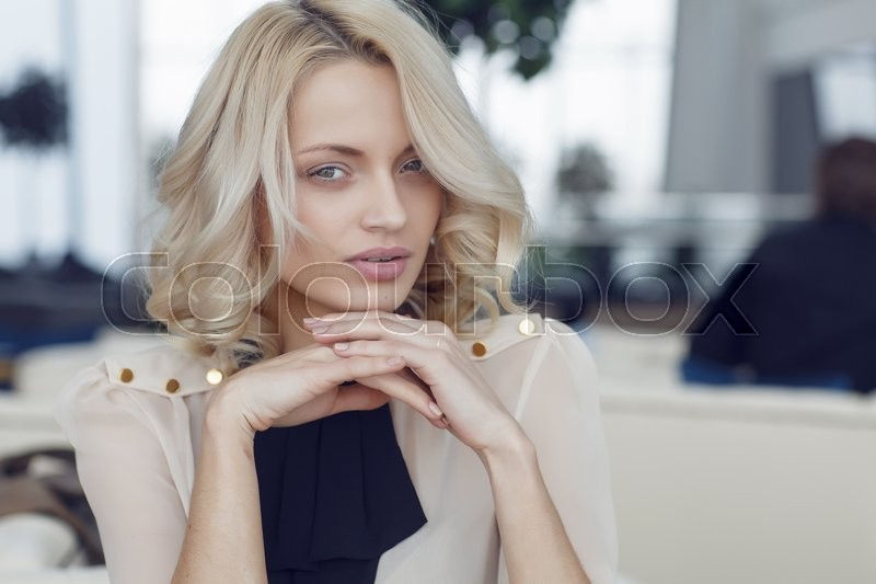 Stock Bild von 'haar-, make-up, makeup'