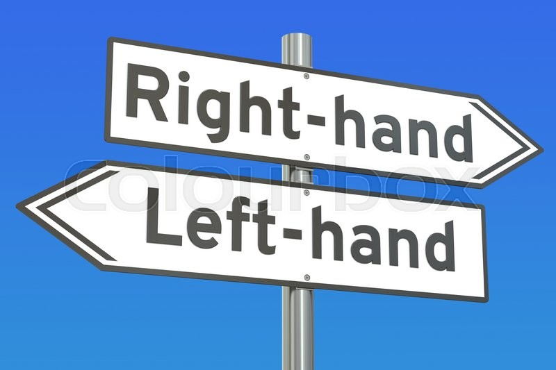 Stock Bild von 'left-hand, illustration, grafik'