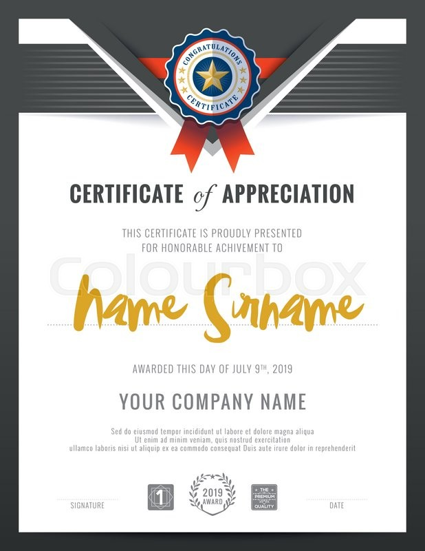 Modern certificate triangle shape background frame design template modern certificate triangle shape background frame design template stock vector colourbox yelopaper Image collections