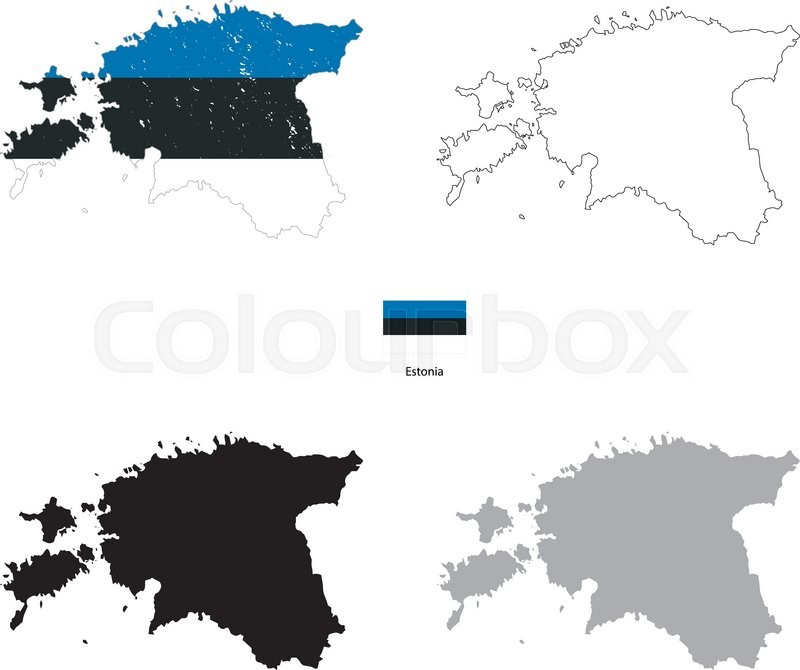 Estonia country black silhouette and with flag on background estonia country black silhouette and with flag on background isolated on white stock vector colourbox gumiabroncs Gallery